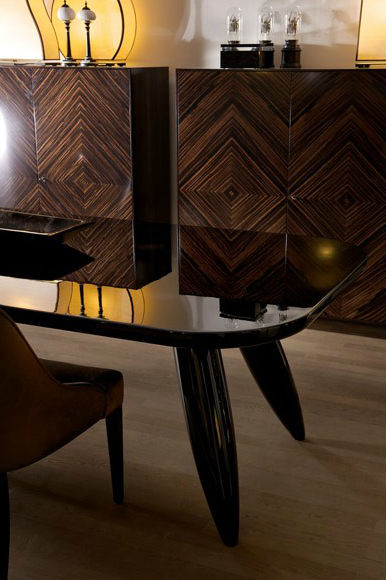 Popular Contemporary Dining Table / Lacquered Wood / Rectangular Inside Dom Round Dining Tables (#16 of 20)