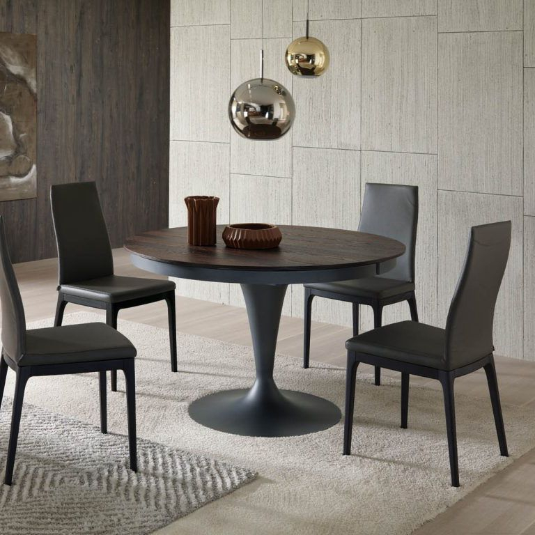 Popular Contemporary Dining Table / Wooden / Metal / Round Eclipse T315Studio  Ozeta Ozzio Italia With Regard To Eclipse Dining Tables (#17 of 20)