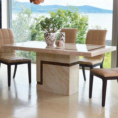 Popular Fillo Marble Medium Dining Table In Medium Dining Tables (View 3 of 20)