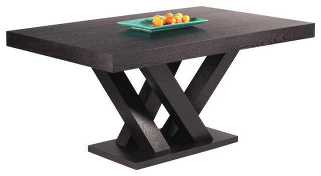 Popular Madero Rectangle Dining Table Large, Dark Espresso Inside Transitional Rectangular Dining Tables (#12 of 20)