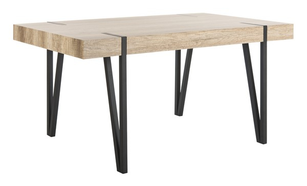 Inspiration about Popular Mid Century Rectangular Top Dining Tables With Wood Legs Regarding Dtb7000a Dining Tables – Furnituresafavieh (#18 of 20)
