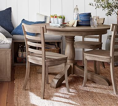 Popular Photo of Small Dining Tables With Rustic Pine Ash Brown Finish