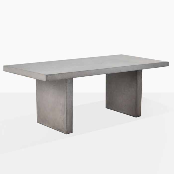 Popular Rectangular Dining Tables Intended For Raw Concrete Rectangle Dining Table (#11 of 20)