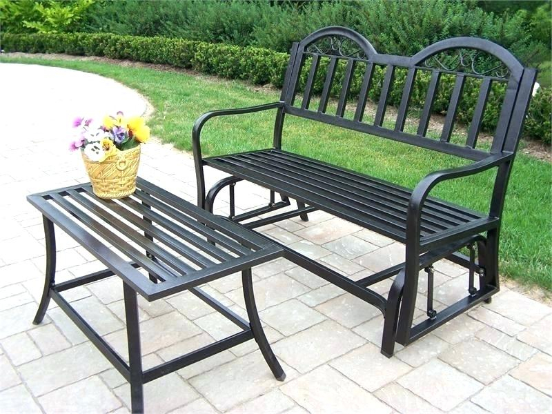 Porch Bench Glider – Detkam With Outdoor Steel Patio Swing Glider Benches (View 4 of 20)