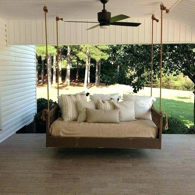 Porch Sofa Decoration Mission Hanging Daybed Swing Swinging Pertaining To Country Style Hanging Daybed Swings (View 20 of 20)