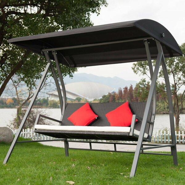 Porch Swing Glider | Wayfair With Patio Glider Hammock Porch Swings (#17 of 20)