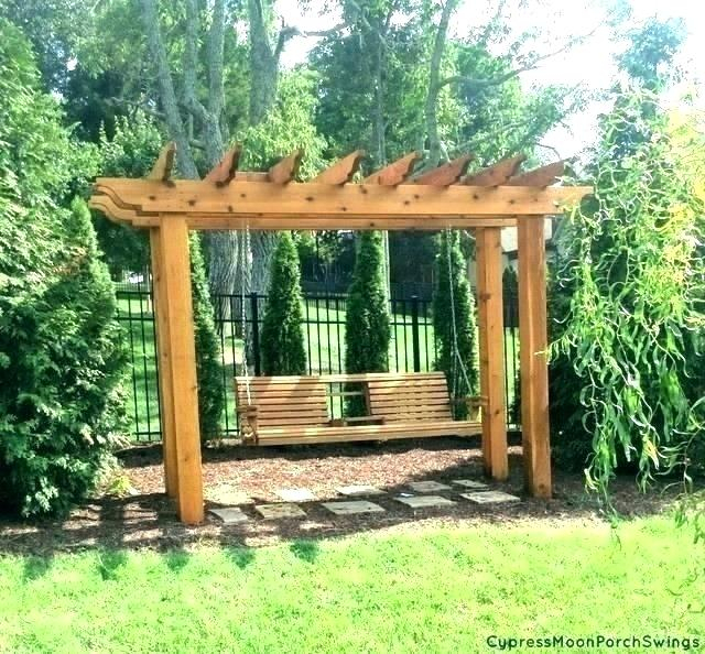 Porch Swing Pergola Bed Plans Outside Pallet From Pallets Within Patio Gazebo Porch Swings (View 9 of 20)