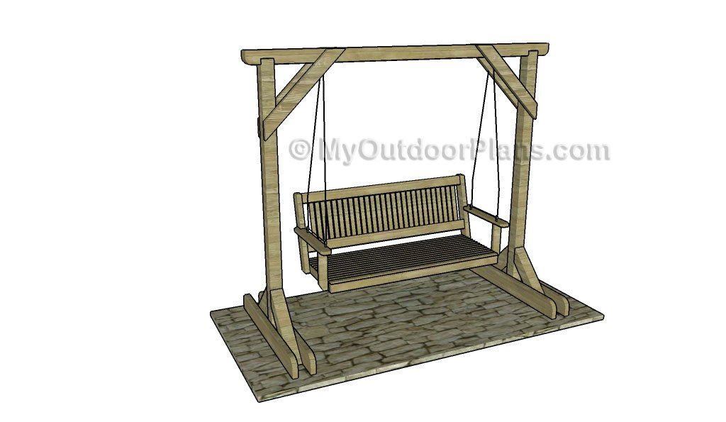 Porch Swing Stand Plans | Myoutdoorplans | Free Woodworking For Pergola Porch Swings With Stand (#13 of 20)