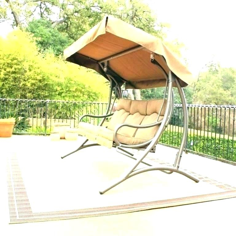 Porch Swing With Base Glider Outdoor Patio Canopy Swings For Canopy Patio Porch Swing With Stand (View 17 of 20)