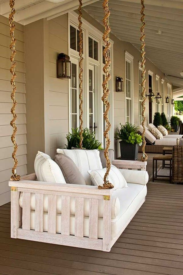 Porch Swings   House Front Porch, Porch Swing, Home Decor Pertaining To Porch Swings With Chain (#12 of 20)