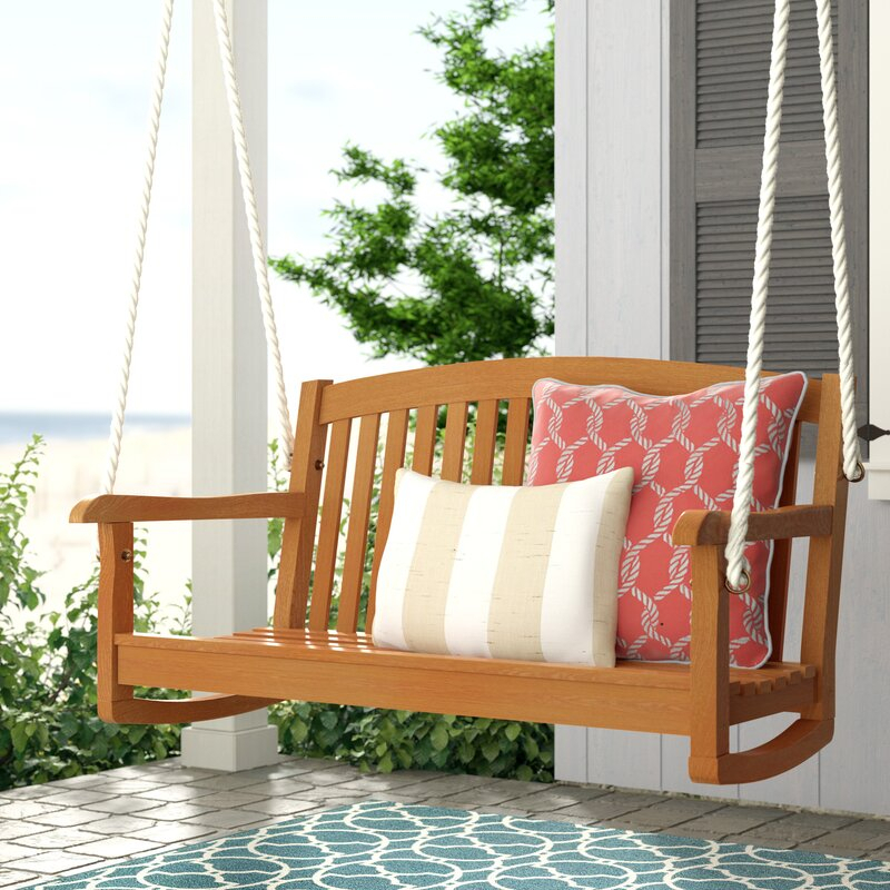 Portland Teak Porch Swing With Rosean Porch Swings (View 12 of 20)