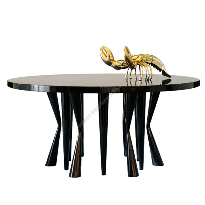 Preferred Dom Edizioni / Dinner Table / Robin Round Pertaining To Dom Round Dining Tables (#17 of 20)