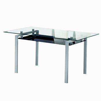 Preferred Modern Design Metal Frame Dining Table With Glass Inlay On Table Top – Buy Metal Frame Dining Table,dining Table With Glass,table With Glass Inlay On With Regard To Steel And Glass Rectangle Dining Tables (View 11 of 20)