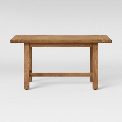 """Preferred Rustic Mid Century Modern 6 Seating Dining Tables In White And Natural Wood In 60"""" Gilford Dining Table Rustic Brown – Threshold , Size:  (#13 of 20)"""