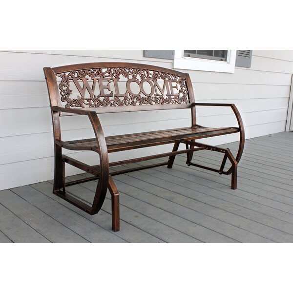 Purchase Callen 49 Outdoor Patio Swing Glider Bench Chair Pertaining To Iron Grove Slatted Glider Benches (View 12 of 20)