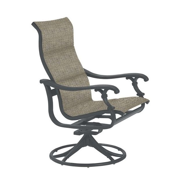 Inspiration about Ravello Padded Sling High Back Swivel Rocker Throughout Padded Sling High Back Swivel Chairs (#6 of 20)