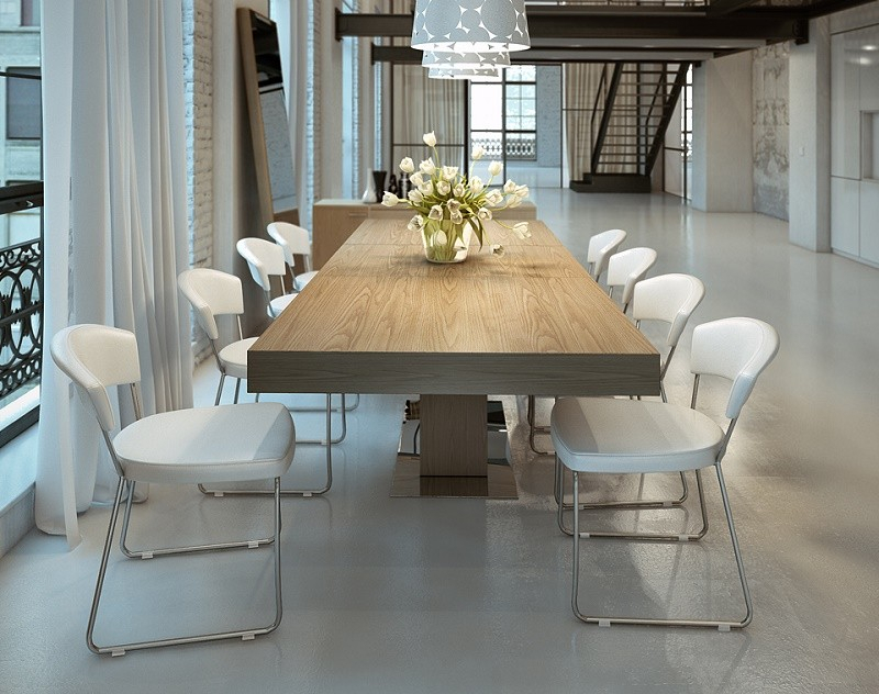 Recent Contemporary Rectangular Dining Tables With Regard To Astoria Walnut Extendable Modern Rectangular Dining Table (View 2 of 20)