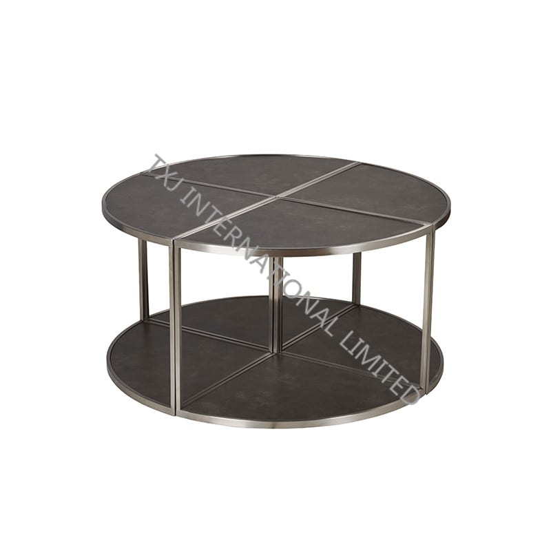 Recent Dining Tables With Brushed Stainless Steel Frame Inside China China Factory For Dining Room Chairs – Leaf Ceramic (View 19 of 20)