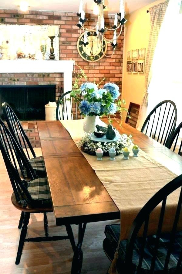 Recent Distressed Walnut And Black Finish Wood Modern Country Dining Tables Within Country Kitchen Dining Table – Stichling (View 13 of 20)