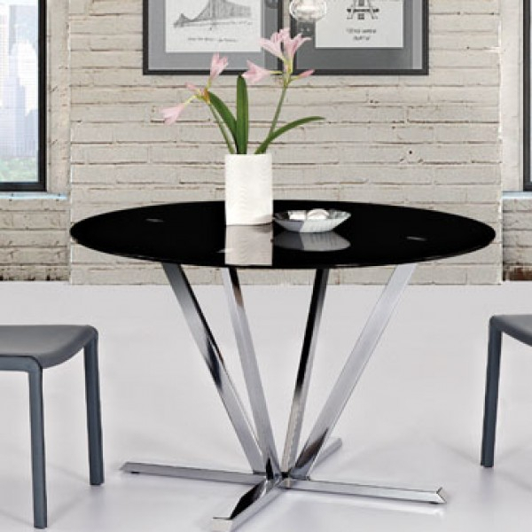 Recent Ds Dining Table Metro Round – Pop N Décor For Dining Tables With Black U Legs (View 16 of 20)