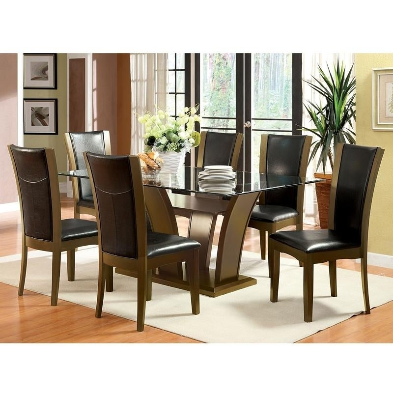 Recent Furniture Of America Bind Traditional Cherry 72 Inch Dining Table Pertaining To Rectangular Glasstop Dining Tables (View 2 of 20)
