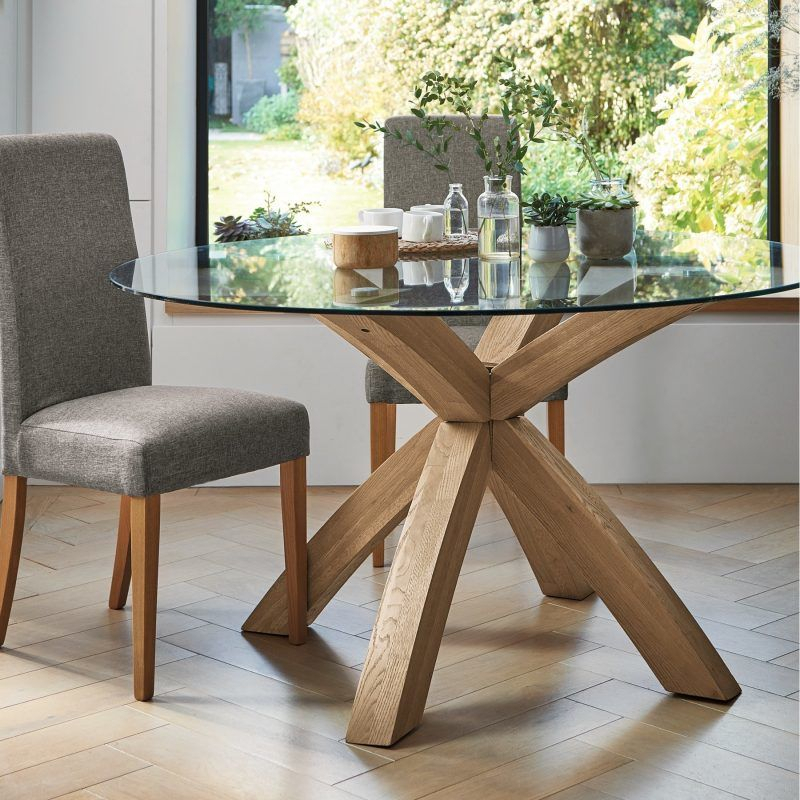 Recent Glass Top Dining Tables – The Furniture Co With Regard To Round Glass Top Dining Tables (View 7 of 20)