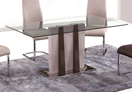 Inspiration about Recent Grako Design T530 Pertaining To Rectangular Glasstop Dining Tables (#10 of 20)
