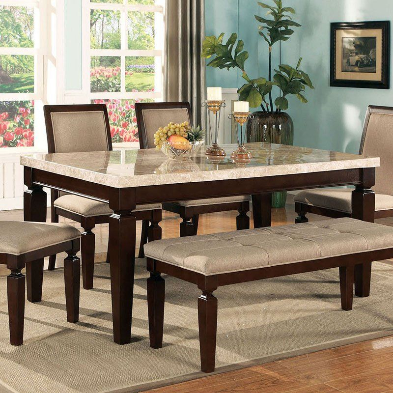 Inspiration about Recent Transitional 4 Seating Drop Leaf Casual Dining Tables For Agatha White Marble Top Dining Table In 2020 (#10 of 20)