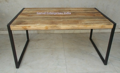 Reclaimed Mango Wood Dining Table With Metal Legs – Garud Inside Most Current Iron Wood Dining Tables With Metal Legs (View 10 of 20)