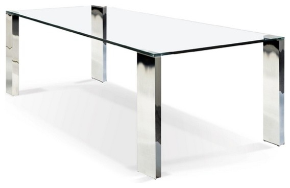 Inspiration about Rectangular Glass Top Dining Tables Regarding Best And Newest Rectangular Glass Top Dining Table (#7 of 20)