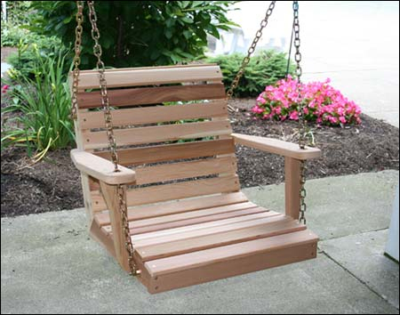 Red Cedar American Classic Porch Swing Intended For Classic Porch Swings (View 9 of 20)
