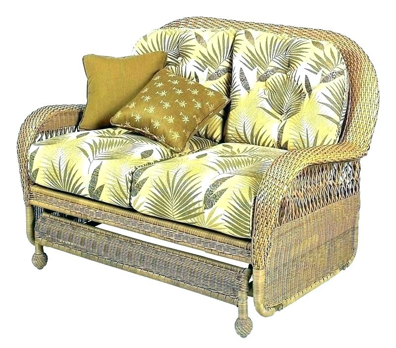 Inspiration about Replacement Cushions For Wicker Loveseat – Magically With Outdoor Loveseat Gliders With Cushion (#9 of 20)
