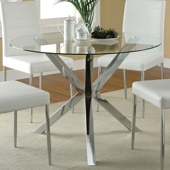Inspiration about Retro Classy Dining Table For A Chic Dining Room – Buy Glass Dining Table  For Living Room,japanese Dining Table For Waiting Room,round Glass Top Pertaining To Preferred Retro Round Glasstop Dining Tables (#2 of 20)