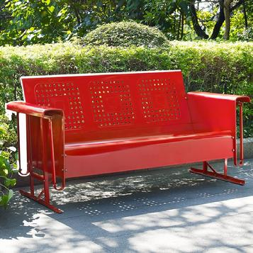 Inspiration about Retro Patio Furniture & Metal Glider Just Like You Remember! With Metal Retro Glider Benches (#13 of 20)