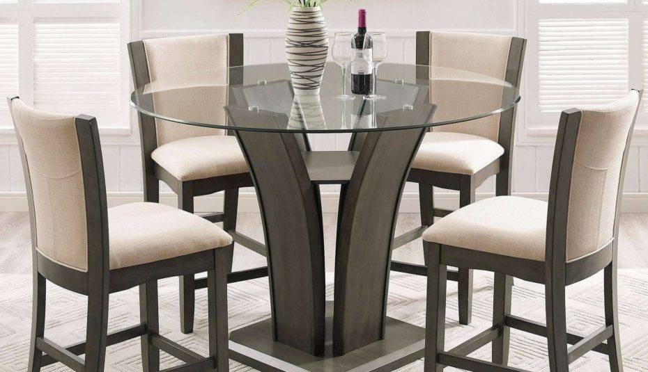Inspiration about Retro Round Glasstop Dining Tables Intended For Most Up To Date Glass Top Dining Table Set Chairs Round For Room Sets (#4 of 20)