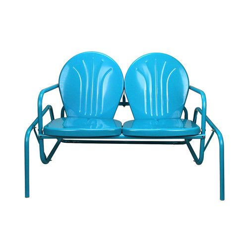 Inspiration about Retro Tulip Glider Bench   Garden Decor With Outdoor Retro Metal Double Glider Benches (#17 of 20)