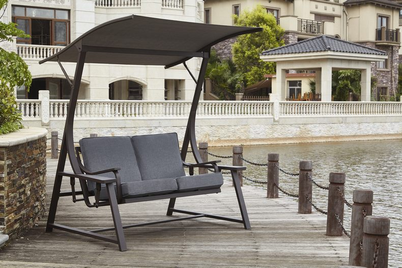 Inspiration about R&m Industrial Limited | Products | Rs 1503 Inside Outdoor Swing Glider Chairs With Powder Coated Steel Frame (#15 of 20)