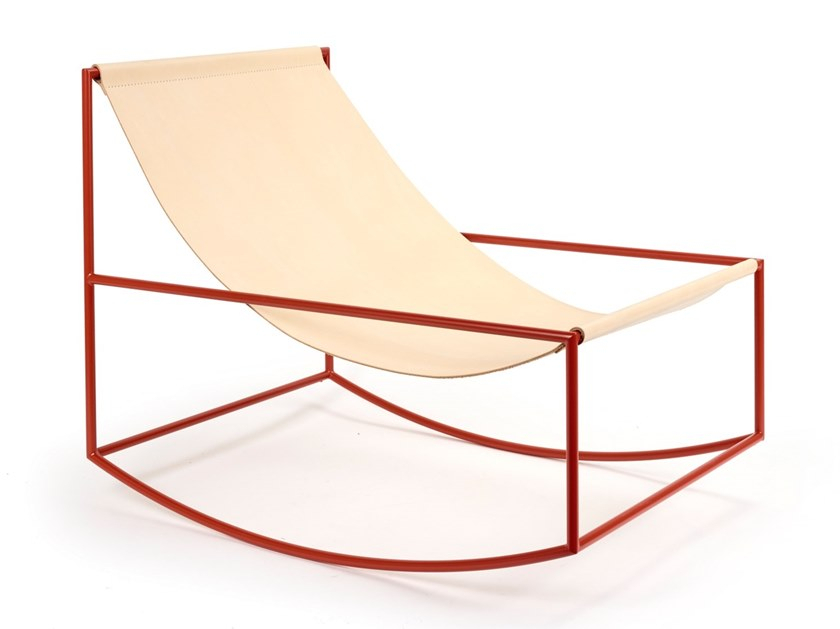 Inspiration about Rocking Chair | Powder Coated Steel Armchair Regarding Outdoor Swing Glider Chairs With Powder Coated Steel Frame (#9 of 20)