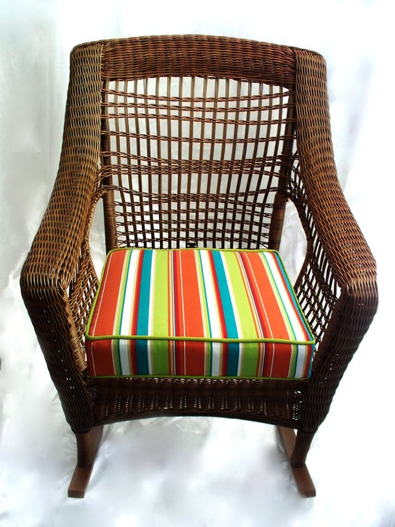 Inspiration about Rocking Chair Seat Cushion Cover, Wicker Deep Cushions, Replacement  Furniture, Love Seat Indoor Outdoor Sofa Patio Sets Bench Loveseat Couch With Regard To Rocking Benches With Cushions (#19 of 20)