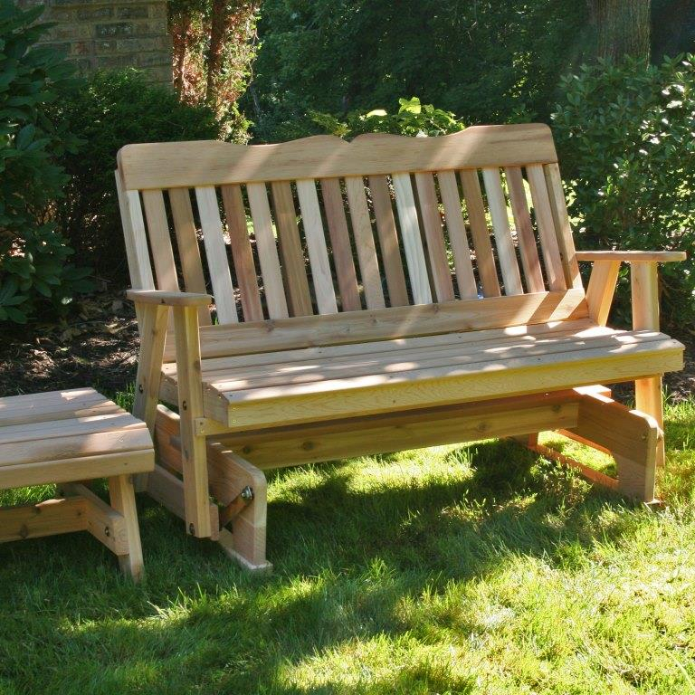 Inspiration about Rocking Glider And Table Set – Cedar Countryside Intended For Rocking Glider Benches (#16 of 20)