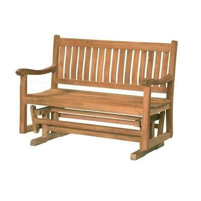 Inspiration about Rosecliff Heights Lowery Teak Glider Bench Rosecliff Heights Within Cedar Colonial Style Glider Benches (#8 of 20)