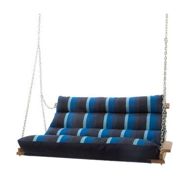 Rosecliff Heights Pacheco Deluxe Sunbrella Porch Swing In With Deluxe Cushion Sunbrella Porch Swings (#16 of 20)