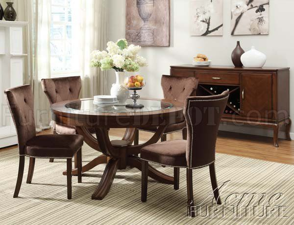 Inspiration about Round Glass Top With Regard To Transitional 6 Seating Casual Dining Tables (#1 of 20)