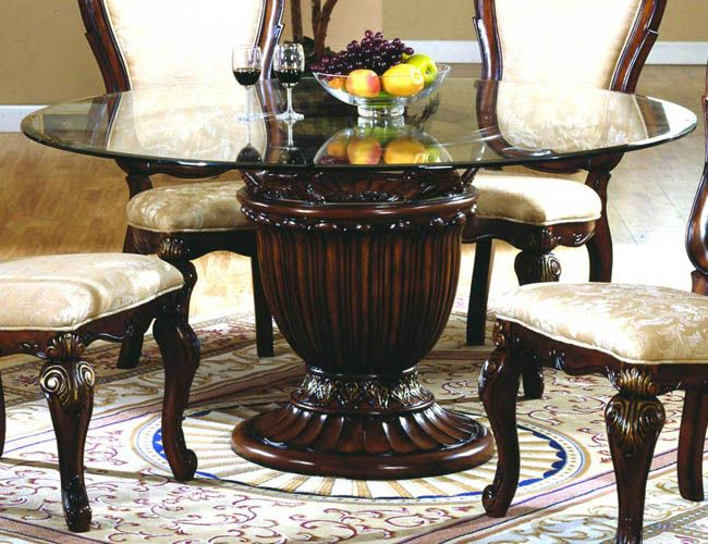 Inspiration about Round Pedestal Dining Table With Round Glass Top Dining Tables (#2 of 20)