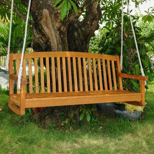 Royal Tahiti 3 Person Light Teak Oil Wood Outdoor Swing Pertaining To 2 Person Light Teak Oil Wood Outdoor Swings (View 3 of 20)