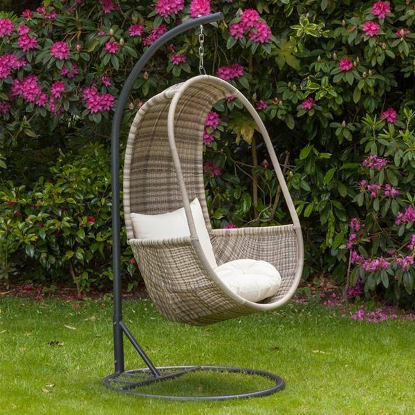 Inspiration about Royalcraft Wentworth Rattan Hanging Pod Chair | Internet Regarding Rattan Garden Swing Chairs (#15 of 20)