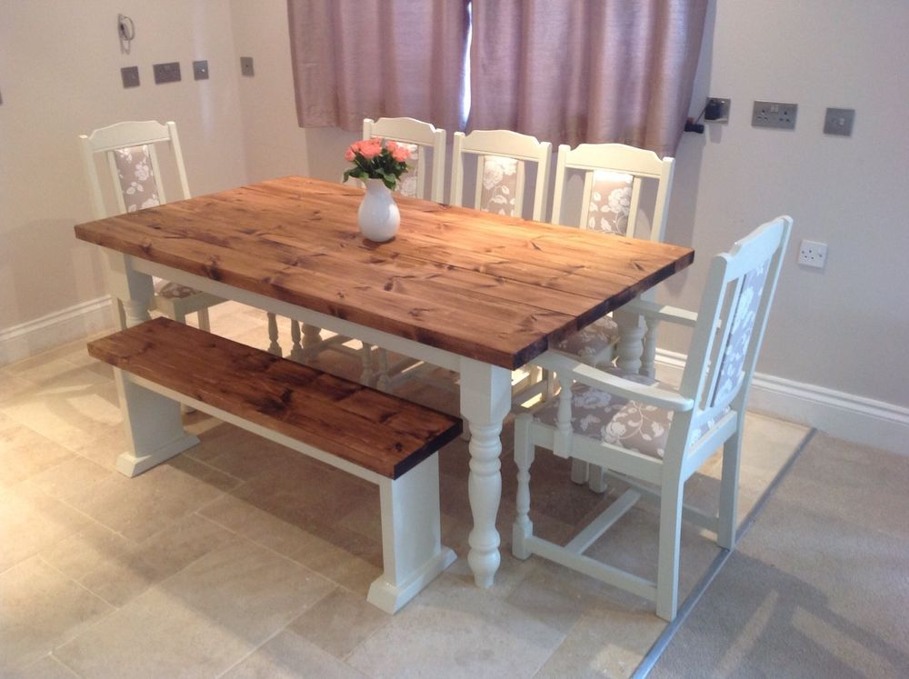 Inspiration about Rustic Country 8 Seating Casual Dining Tables Regarding Well Liked 6 8 Seater Dining Table 42 Shabby Chic Dining Table And (#2 of 20)