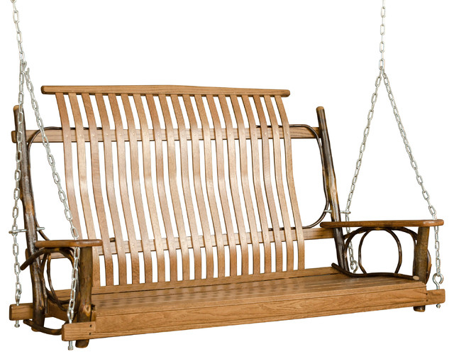 Inspiration about Rustic Hickory 5' Porch Swing With Chains Inside Porch Swings With Chain (#3 of 20)