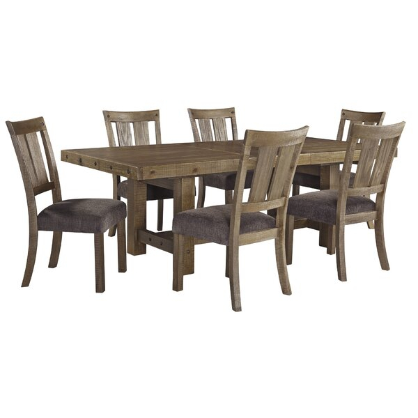 Rustic Mid Century Modern 6 Seating Dining Tables In White And Natural Wood With Regard To Newest Kitchen & Dining Room Sets (#17 of 20)