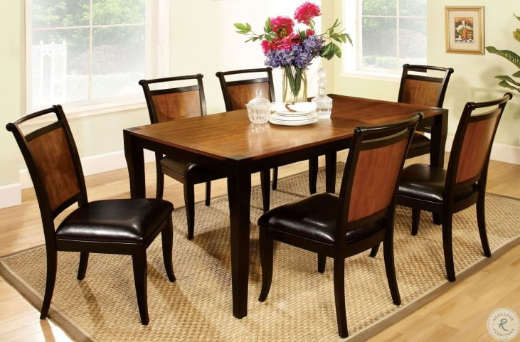 Salida I Acacia Rectangular Leg Dining Room Set With Most Recently Released Acacia Dining Tables With Black Victor Legs (View 18 of 20)